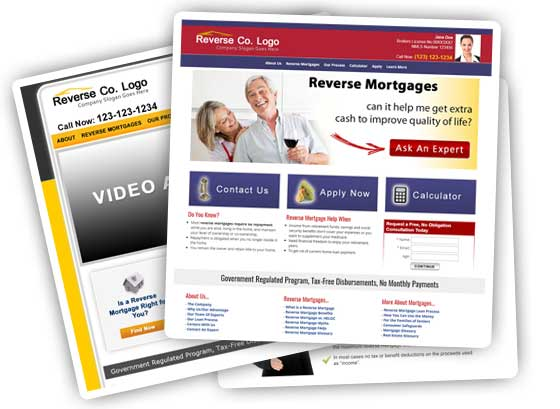 Reverse Mortgage Website  Mortgage Templates
