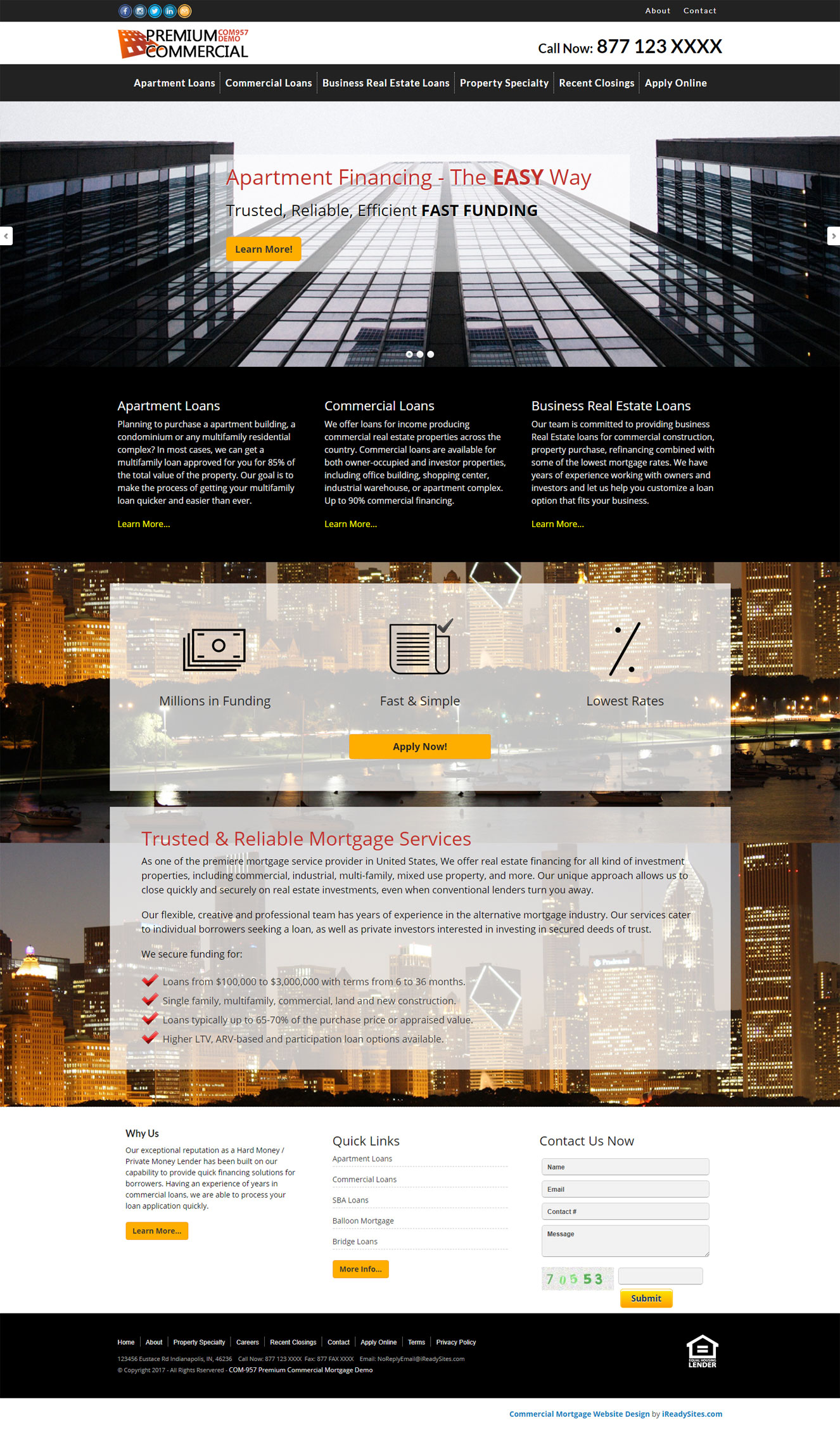 Commercial Mortgage Website Templates