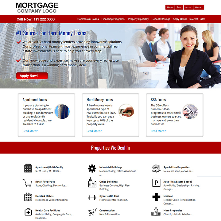Mortgage Website Design, Mortgage Website Templates ...