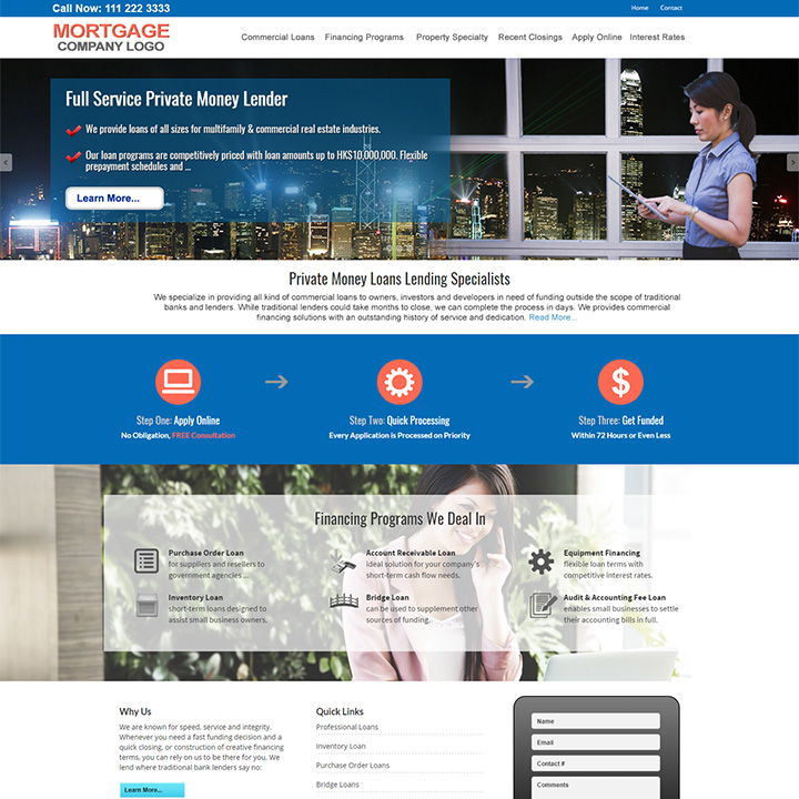 Commercial Mortgage Website Templates - Mortgage website templates
