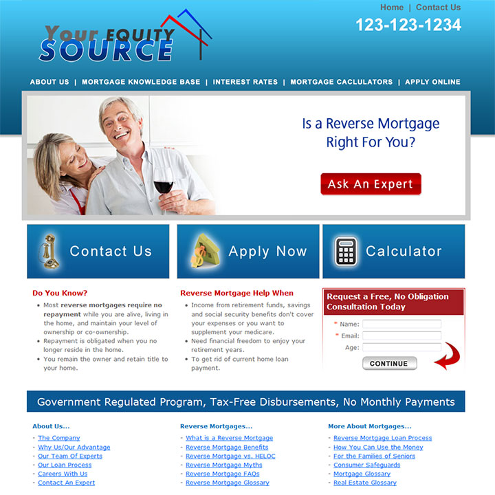 Reverse Mortgage Website Templates