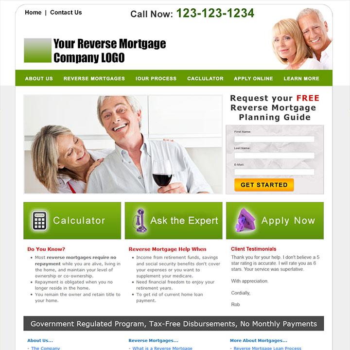 Reverse Mortgage Website Templates