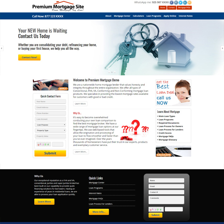 Commercial Mortgage Website Design  Mortgage Templates