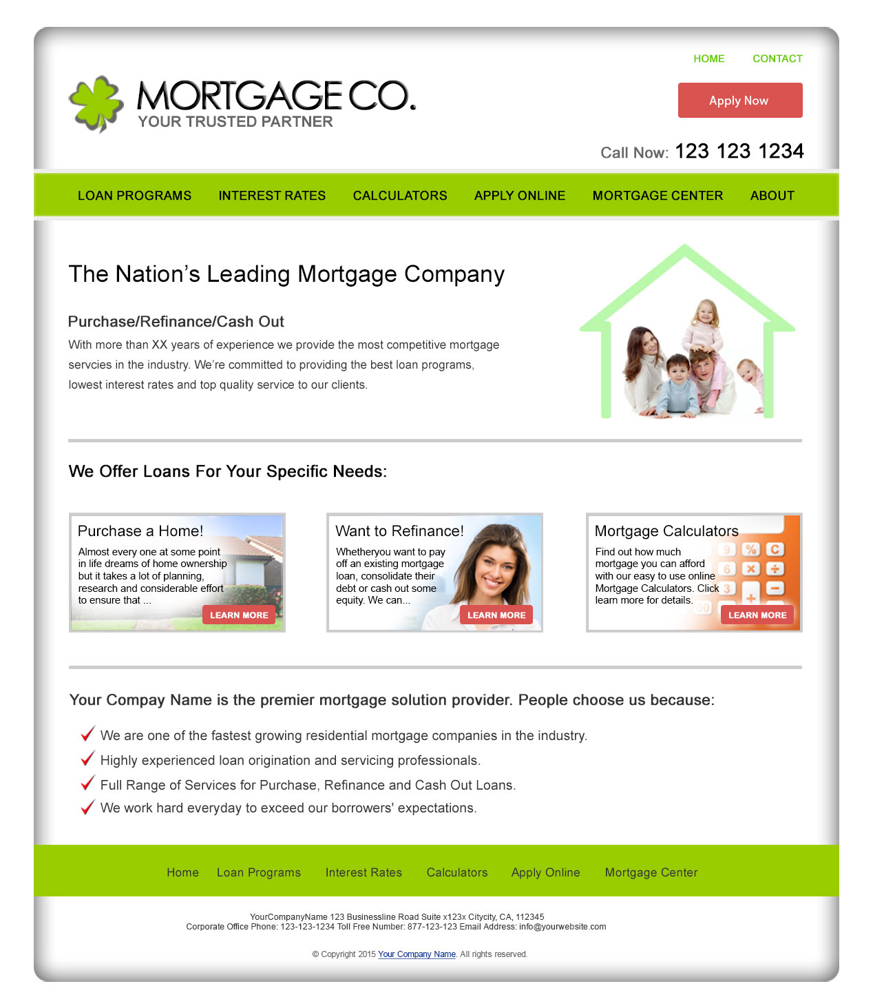 residential mortgage website templates. Black Bedroom Furniture Sets. Home Design Ideas
